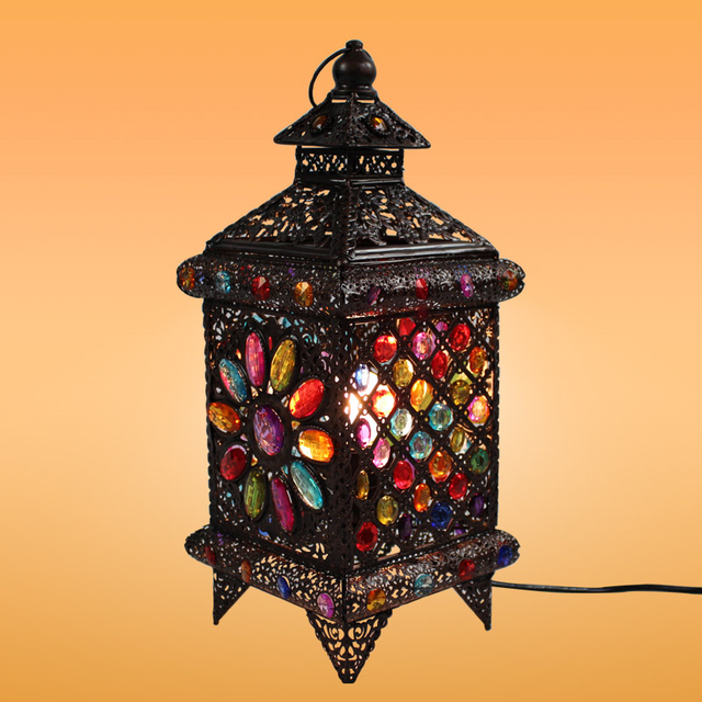 Bohemian Style Fashion Rustic Style Table Lamp Lantern Lamps Cafe ...
