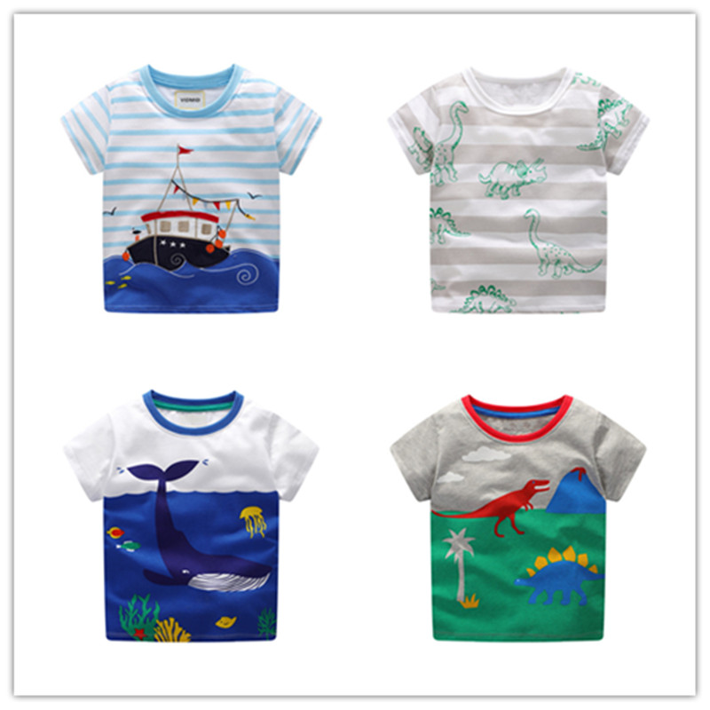 T-Shirt Baby Whale Clothing Tees Designer Little-Boy Cotton Children's Boys 2-7-Years