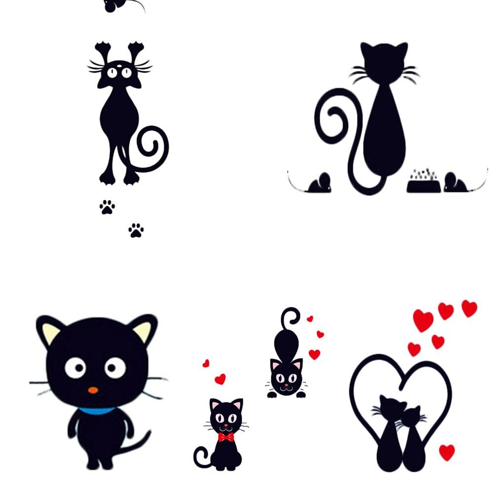 New 1pc Small Black Cat Switch Stickers Wholesale Cute Notebook Stiker Lampu Kucing Gantung Aeproductgetsubject