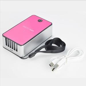 Image 5 - Mini Portable Bladeless Fan Cooler Cooling USB Rechargeable Battery Bladeless Fan Air Condicionado Ventilador