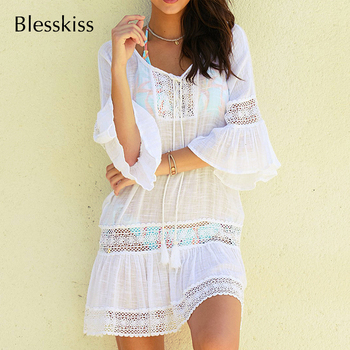 BlessKiss Summer Lace Beach Dress Cover-Up 4