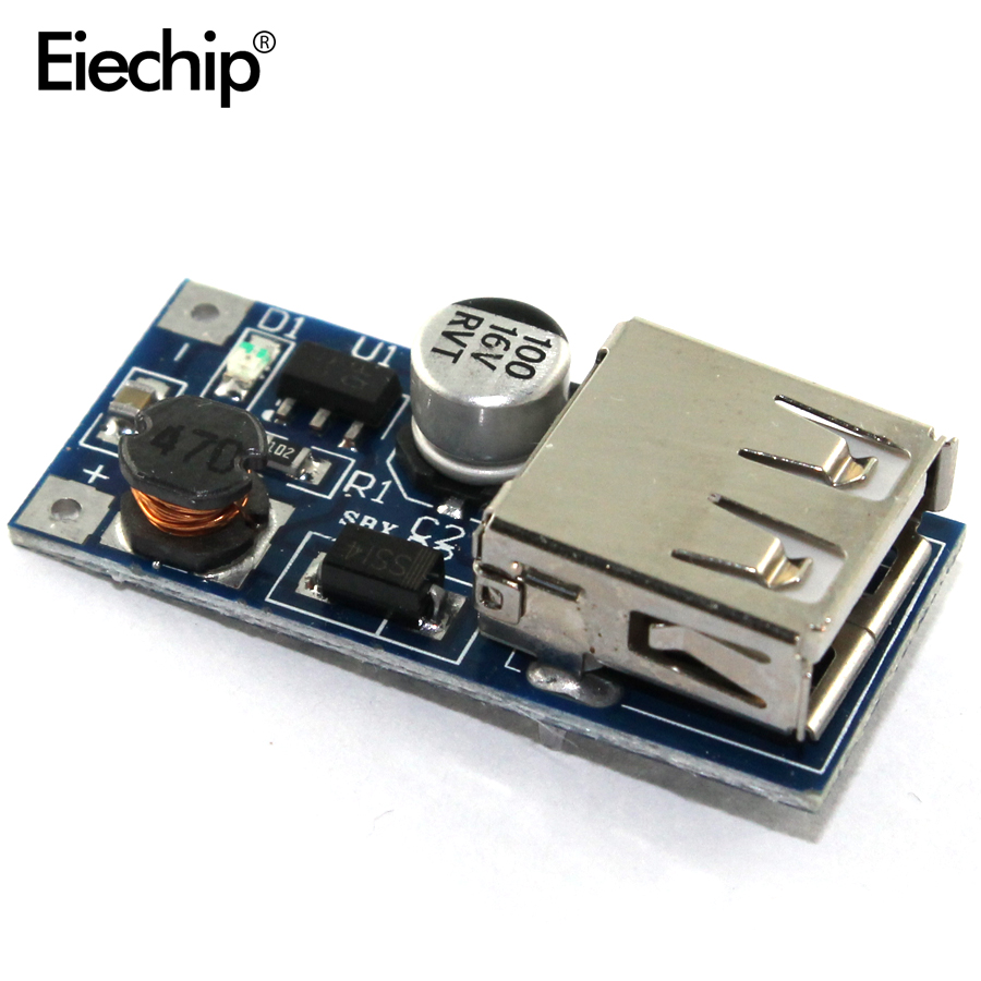 5 stücke DC DC Step Up Boost Converter Power Supply Module 0,9 V-5 V zu 5V 600MA DC-DC Power Bank Ladegerät USB Ausgang Lade Bord
