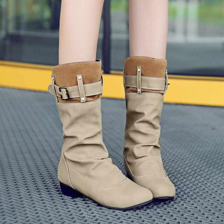 Обувь больших размеров 11, 12, 13, 14 женские ботинки на низком каблуке с перекрестными ремешками и пуговицами для отдыха на низком каблуке