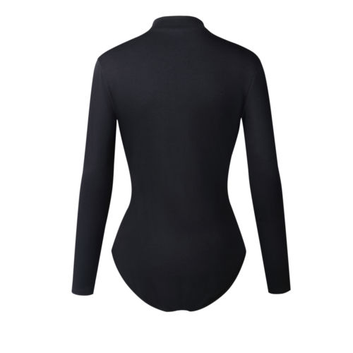 Fashion New Ladies Womens Bodycon Bodysuit Casual Hollow Out Long Sleeve Skinny Slim Jumpsuit Romper Leotard Tops