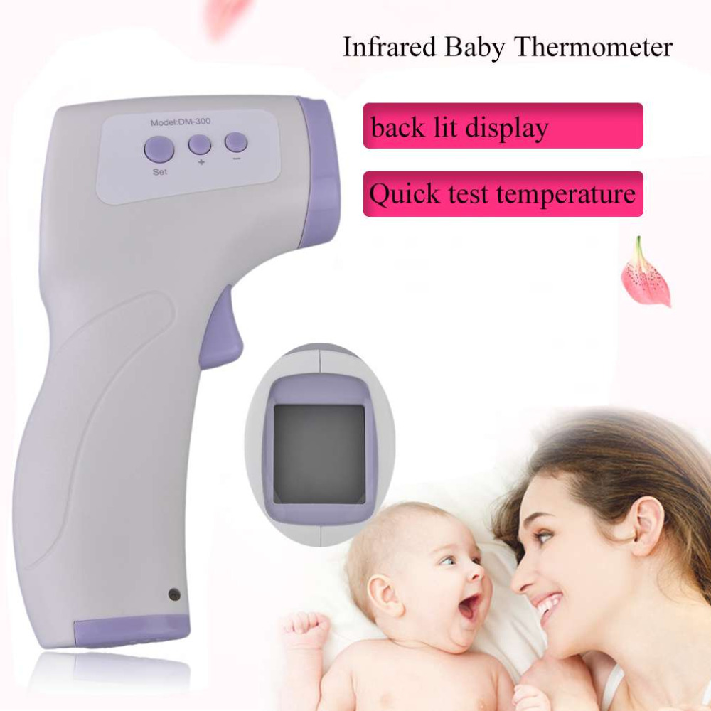 New Professional Digital LCD Infrared Baby Thermometer Non Contact Temperature Measurement Diagnostic Tool Device DM-300