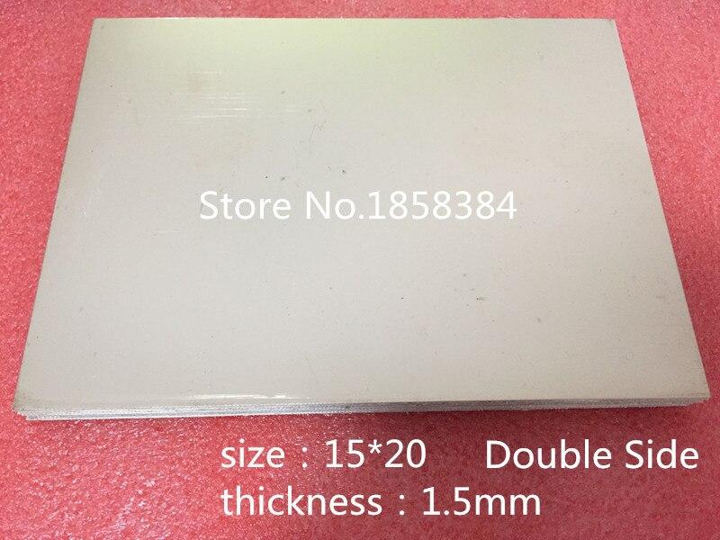 10 шт./лот двухсторонняя 15*20 FR4 FR-4 стекловолокно пустая медь одетая печатная плата Универсальный прототип PCB