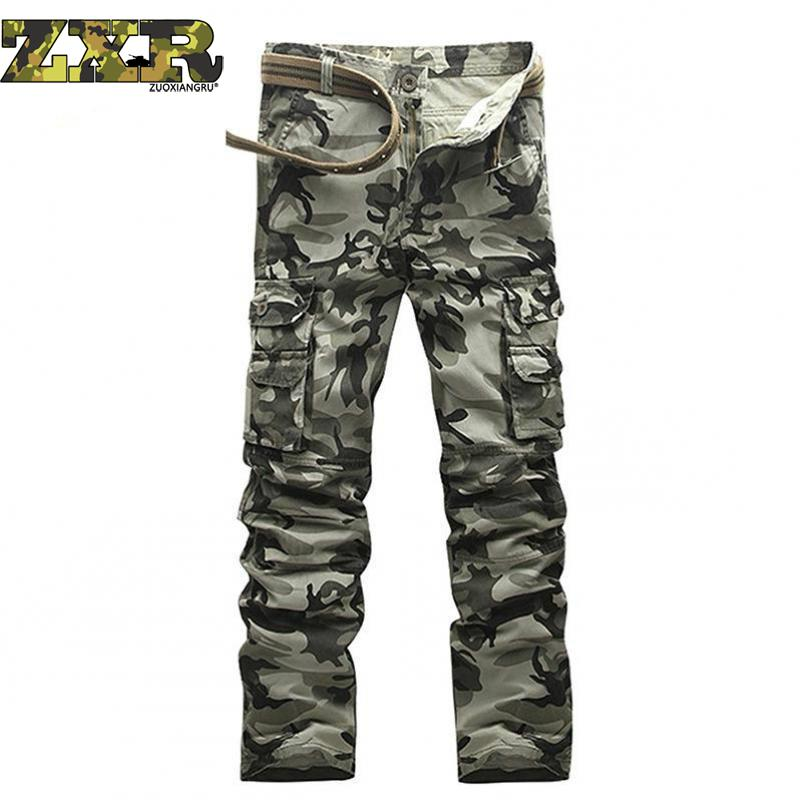 Тактические штаны, джинсы Airborne, повседневные, размера плюс, хлопковые, дышащие, мульти карманы, военные, армейские, камуфляжные, брюки карго для мужчин-in Брюки-карго from Мужская одежда
