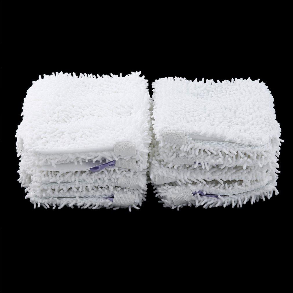 8 шт. Швабра замена головы Pad для Акула S3501 моющиеся чистящие средства микрофибры машинная стирка ткани белый цвет
