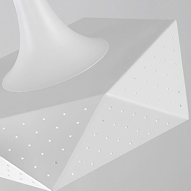 Moderne led hanglampen voor keuken bar woonkamer, creatieve led hanglamp iron + PVC schaduw ronde/vierkante/veelvlak - 6