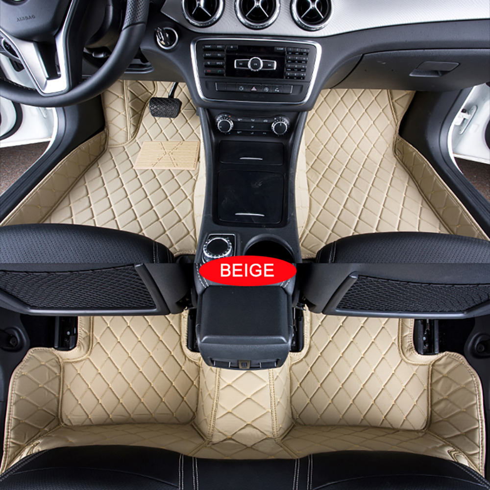 Car Floor Mats Case for Renault Megane Customized Auto 3D Carpets Custom-fit Foot Liner Mat Car Rugs Black Beige lines
