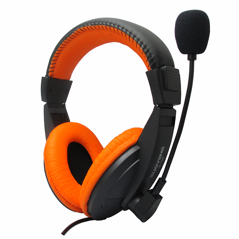 New Wired 3.5mm Headset Headphones Bass Stereo with Microphone Mic for Game Computer PC Laptop Promotion rock y10 stereo headphone microphone stereo bass wired earphone headset for computer game with mic
