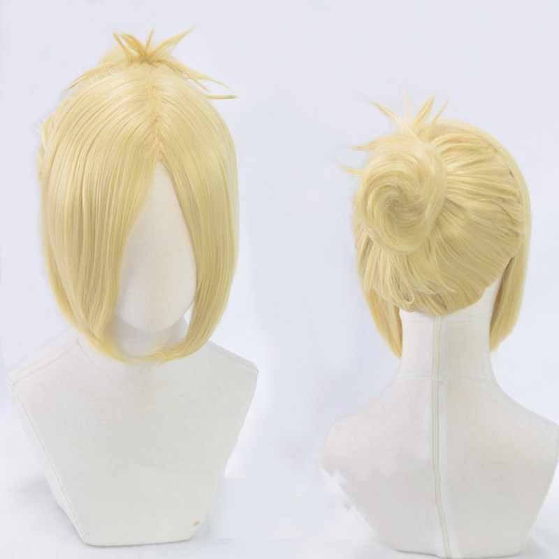 Attack on Titan AnnieLeonheart Female Giant Yellow Wig Halloween Role Play+Hairnet
