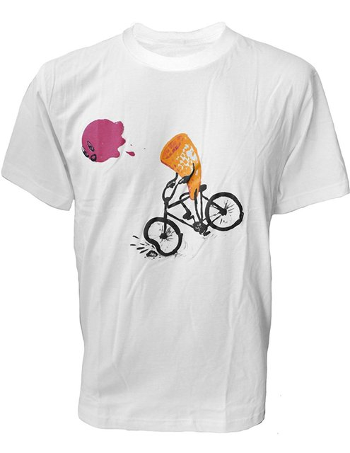 f50e52d1339 Funny Clothing Casual Short Sleeve Tshirts Men s Ice Cream Cone Bicycle  Accident Fail T-Shirt