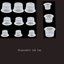 Disposable Tattoo Ink Cups Small Medium Big Size Pigment Caps For Tattooing Eyelash Extension Permanent Makeup