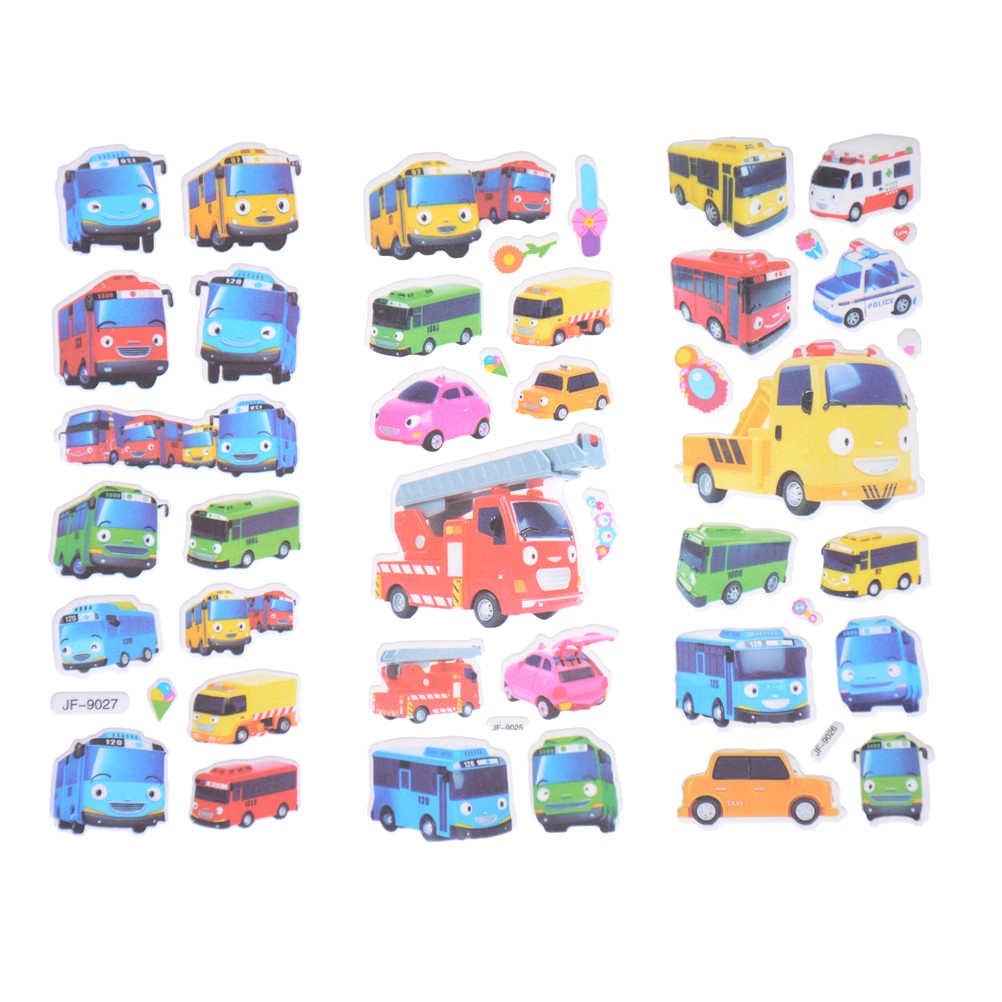 6 teile/satz 3D Cartoon Aufkleber Pegatinas Infantiles Kinder Aufkleber In Notebook Tayo Die Wenig Bus Tag Pegatinas Juguetes