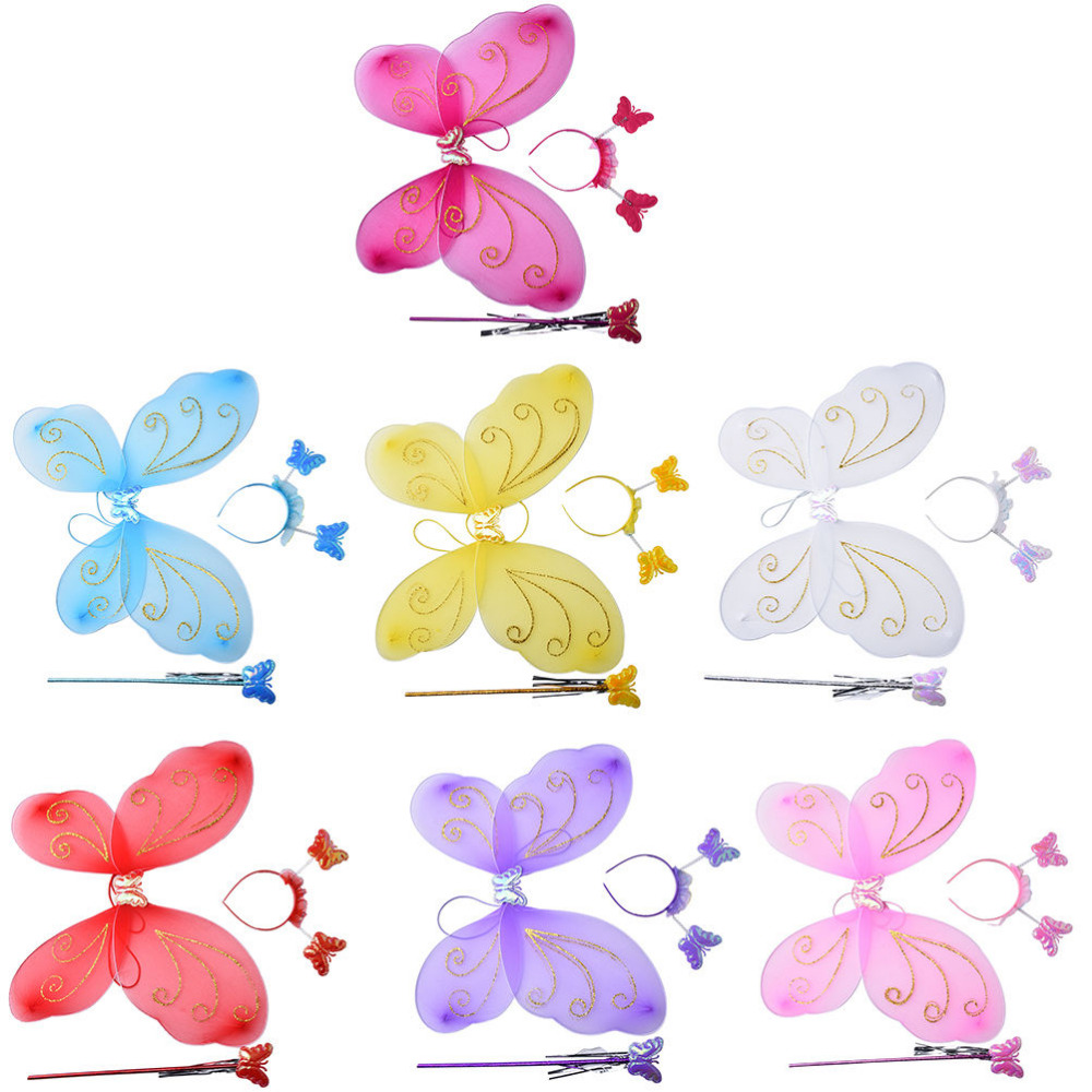 FLOWER /& JEWEL 3PCS WING SET*~6 SETS ~*FAIRY PRINCESS