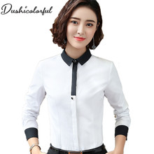 Dushicolorful New fashion women silm shirt spring autumn formal elegant blouse office ladies work wear plus size tops