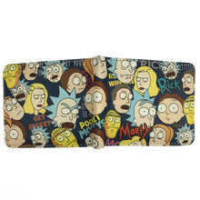 FVIP Comics Rick And Morty Wallet With Coin Pocket Card Holder Short Coin Purse