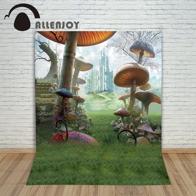 Fotos - fundo para fotos Wonderland castelo cogumelos crianças - Câmera e foto