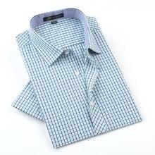 2017 летняя мода мужчины рубашки с коротким рукавом повседневная плед формальный рубашка для мужчин мужской социальной рубашки camisas