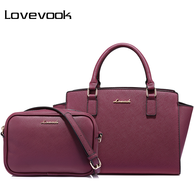 LOVEVOOK women bag female handbags large ladies messenger bags high quality PU shoulder crossbody bag small purse 2 psc./set lovevook shoulder messenger bags for women crossbody bag pu female small handbag and purse with tassel fashion zippers designer