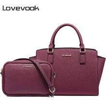 LOVEVOOK сумка женская в руках большая  и маленькая сумока через плечо из высококачественной искусственной кожи дамские сумки с короткими ручками на плечо 2 шт./компл. набор сумок для женщин и девочек