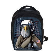 3D Print Eagle  Backpack For Teenagers Boys School Bags Backpack Kindergarten Kids Waterproof Backpacks Rock Mochila Escolar