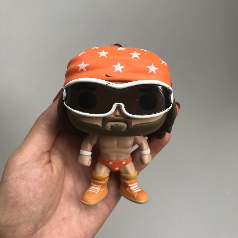 "Original Funko POP Wrestling Randy ""Macho Man"" Savage Boxer Fighter Vinyl Action Figure Collectible Model Loose Toy No Box"