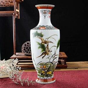 Image 2 - Новое поступление, Классическая традиционная антикварная китайская фарфоровая Цветочная ваза Цзиндэчжэнь для украшения дома и офиса