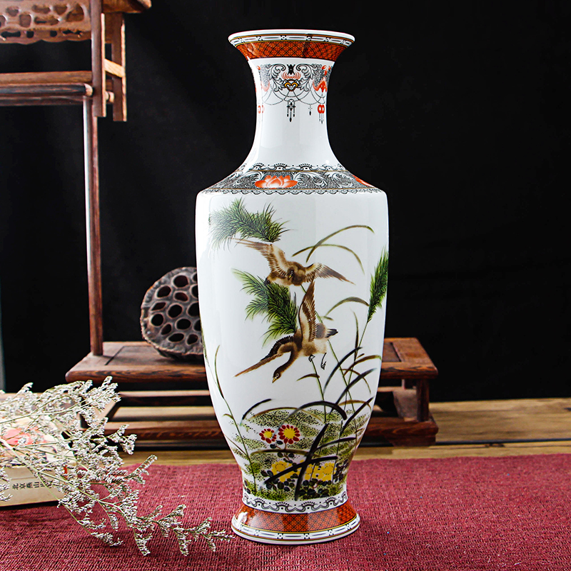 New Arrival Classic Traditional Antique Jingdezhen Chinese Porcelain Flower Vase For Home Office Decor