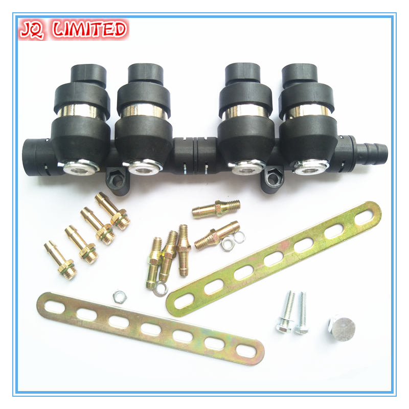 3Ohms 4 cylinder CNG LPG Injector Rail Super Silent high speed Common Injector Rail gas injector