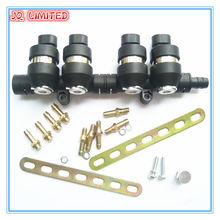 3Ohms 4 cylinder CNG LPG Injector Rail Super Silent high speed Common Injector Rail gas injector  and accessories