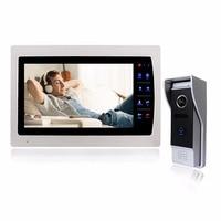 Проводной видеодомофон дверной звонок 7 дюймов ЖК дисплей телефон двери 1200TVL безопасности Камера домофон Системы Поддержка SD карты CCTV Камер