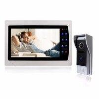Wired Video Intercom Doorbell 7 Inch LCD Door Phone 1200TVL Security Camera Intercom System Support SD