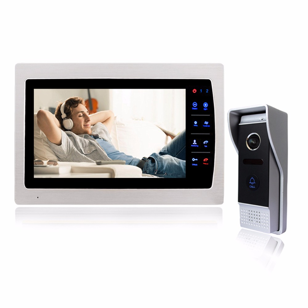 Wired Video Intercom Doorbell 7 inch LCD Door Phone 1200TVL Security Camera Intercom System Support SD Card CCTV Camera F1413D door intercom 7 inch wired video door phone monitor with tft hd lcd display touch screen 800x480 support sd card