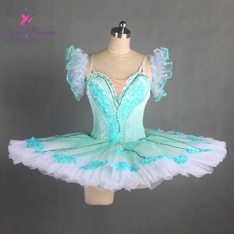 Stunning Green professional dance costume ballet tutu ballerina classical pancake tutu girl & women customer size ballet tutu