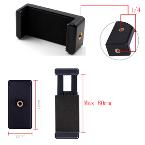 """Image 4 - Mini Bóng Đầu 1/4 """"Gắn Với Khóa Hot Shot Adapter Có Giá Đỡ Điện Thoại Kẹp Cho Máy Ảnh Đèn LED Flash giá Đỡ Gắn"""