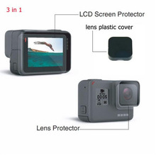 Gopro Hero 5 Screen Protector Film and Lens Protector Film+Lens Cover Set for Gopro Hero 5 Black Action Camera Accessories