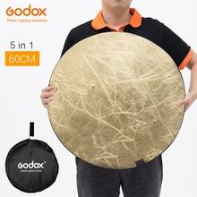"Godox 60 เซนติเมตร 24 ""5in1 การถ่ายภาพสะท้อนแสงพับสตูดิโอถ่ายภาพสะท้อนแสง"