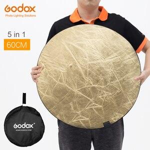 """Image 1 - Godox 60 cm 24 """"5in1 Fotoğraf Reflektör Kurulu için Katlanabilir Stüdyo Fotoğrafçılığı Reflektör"""