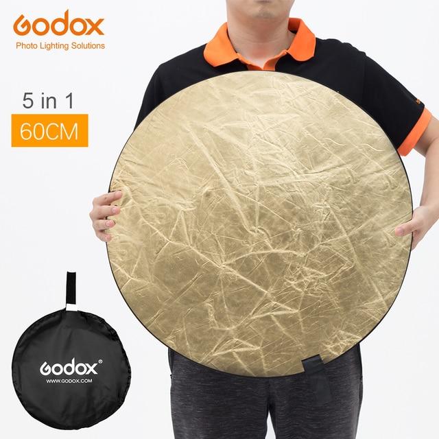 """Godox 60 cm 24 """"5in1 Fotoğraf Reflektör Kurulu için Katlanabilir Stüdyo Fotoğrafçılığı Reflektör"""