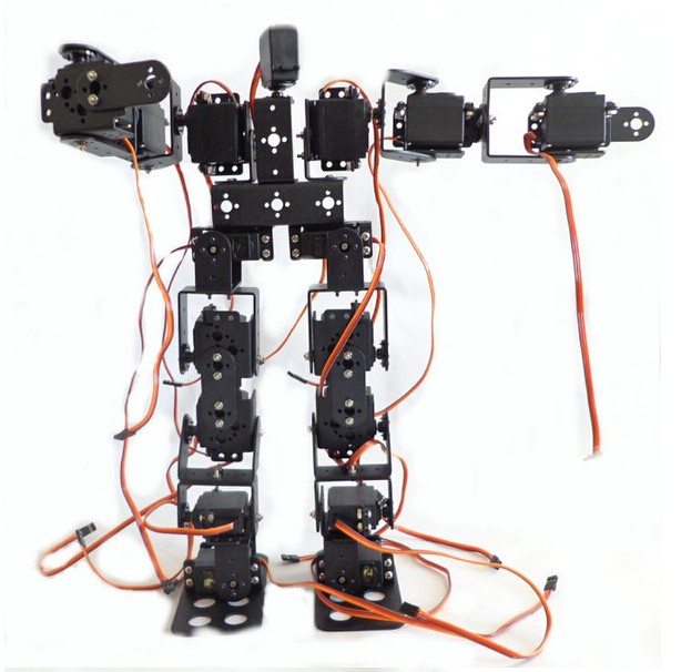 17DOF Biped Robotic Educational Robot Humanoid Robot Kit Servo Bracket with Remote Controller new 17 degrees of freedom humanoid robot saibov6 teaching and research biped robot platform model no electronic control system