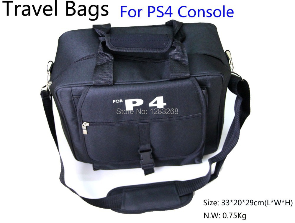 ФОТО NEW ARRIVAL Gaming Accessories For ps4  travel Deluxe carry bag case for Sony Playstation 4 PS4 Console - Black