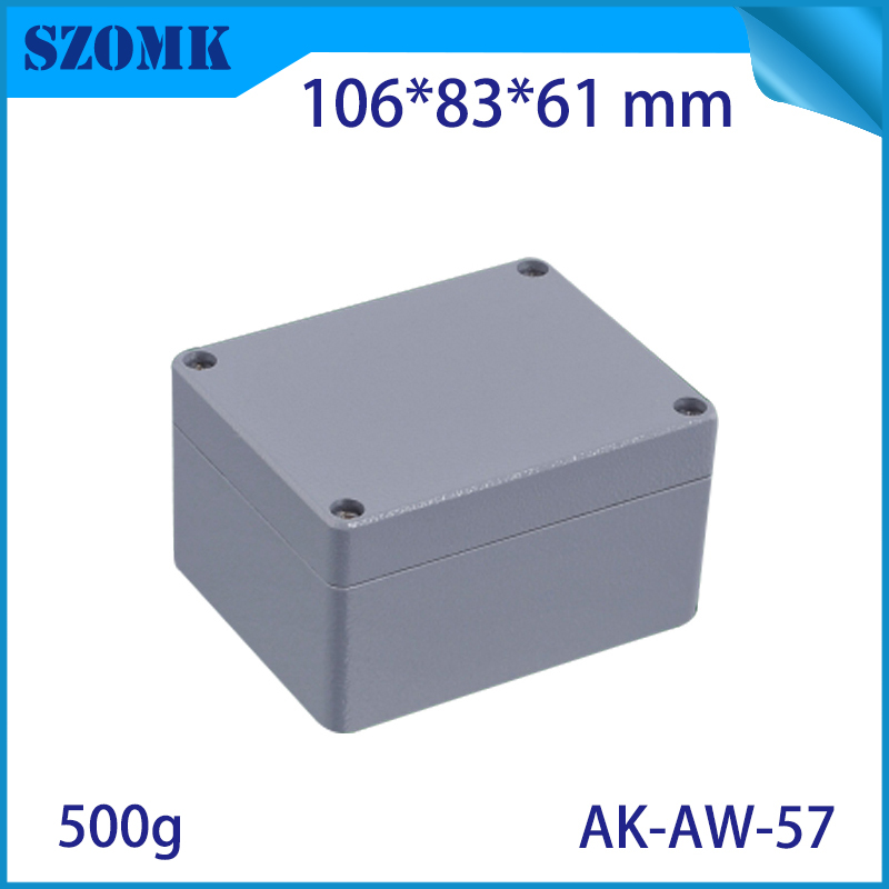 Die Cast Extruded Aluminum Enclosures PCB Instrument Electronic Project Box Aluminum Waterproof Distribution Case 185X65X45MM black extruded aluminum enclosures pcb instrument electronic project box case 100x76x35mm