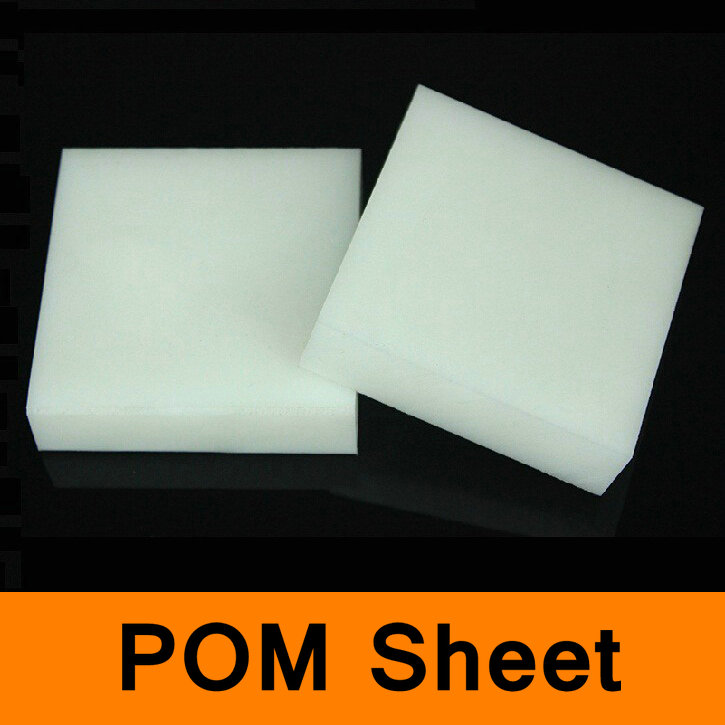 POM Sheet Polyoxymethylene Plate CNC Model Board DIY Raw Material All Sizes in Stock White Color
