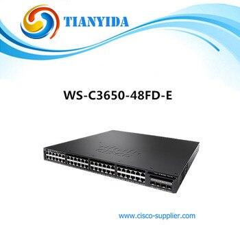 WS-C3650-48FD-E 48 Port Full PoE 2 x 10GB Uplink IP Services Network Switches poe switch 8 port network switches hub full duplex