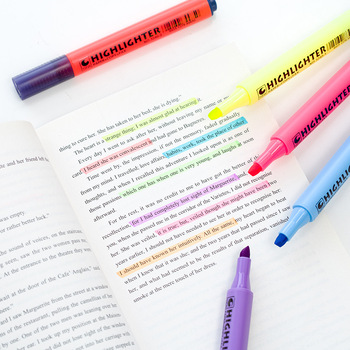 Japanese Triangular Pen Highlighter Student Markers Marker Pen Watercolor Pen Diary Book Scrapbook Accessories School Stationery image