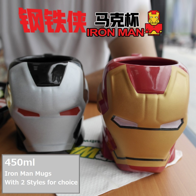 OUSSIRRO Super Hero Avenger Iron Man Theme Milk Coffee Mugs Pure Color Mugs Cup Kitchen Tool Gift in Mugs from Home Garden