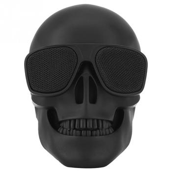 New Skull Head Speaker Portable Mini Wireless Bluetooth Stereo Speaker