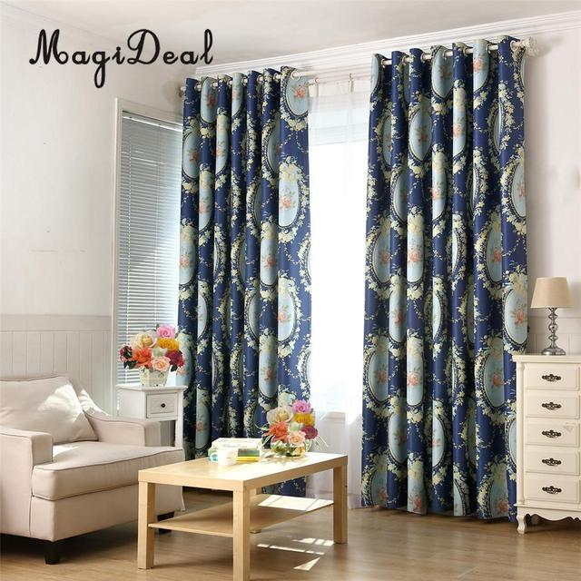 Pinch Pleat Curtain Blackout Curtain Window Blinds Shade With Hooks Navy  Blue 200x250cm / 150x250cm
